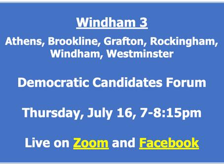 Democratic Candidate Forum - Windham 3