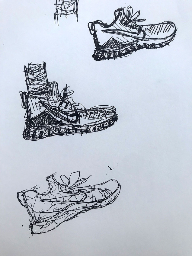 i was bored in class so i drew peoples nike sneakers