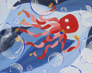 Octopus Baker Painting
