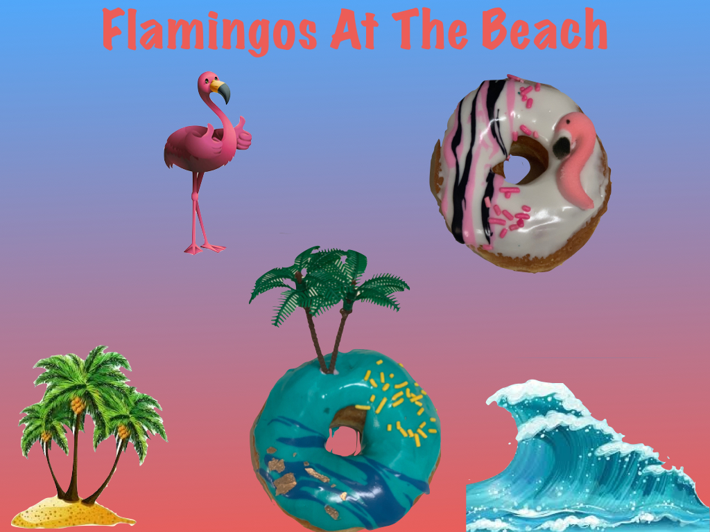 Flamingos at the Beach