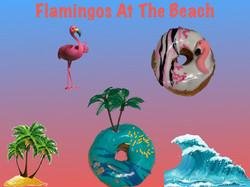 Flamingos at the Beach