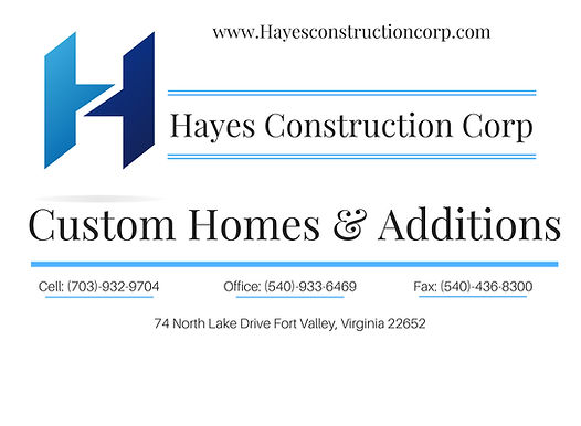 Hayes Contruction Corporation information about contacting and small description of company