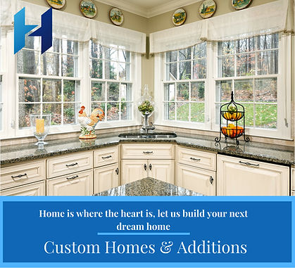 Custom home and additons, home is where the heart is, let us build your next dream home