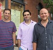 Joe Iconis, Lance Rubi, and Jason Williams, writers of Broadway Bounty Hunter