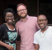 Amma Ghartey-Tagoe Kootin, Josh Willams, and Khalil Sullivan, writer of At Buffalo