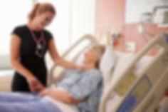 Parkinson's patient with nurse