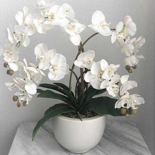 Grosses Arrangement in einer Vase, 4 Zweige (weiss)