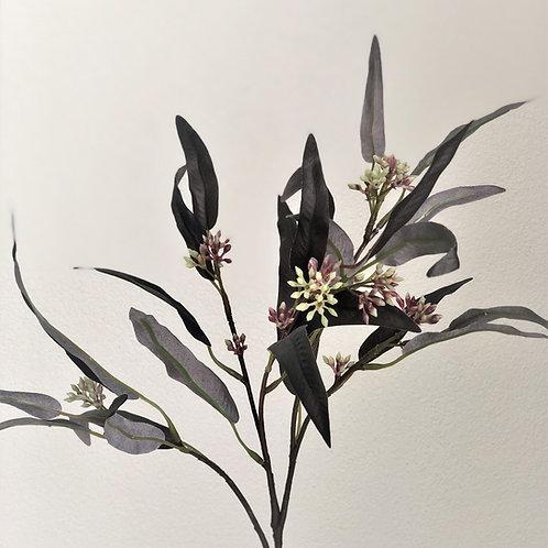 Künstlicher auberginefarbener Eukalyptuszweig ca. 66 cm