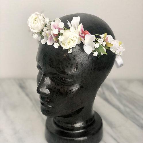 Flower Crown - Kunstblumen Krone mit Orchideen