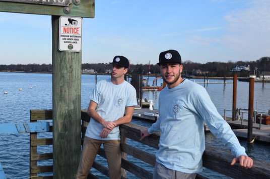 Brenden and Cole in our JT Strong tees and rope hats