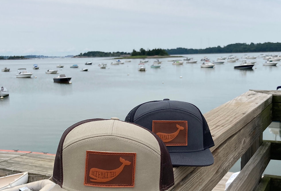 Leather Whale Patch 7-Panel