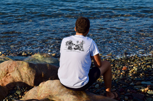 Mikey in Castle Island Tee
