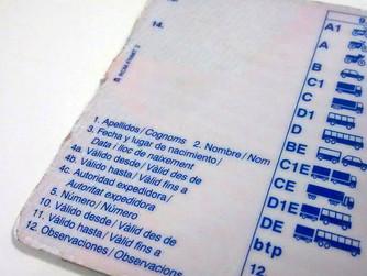 Los códigos del carnet de conducir cambian con el nuevo año
