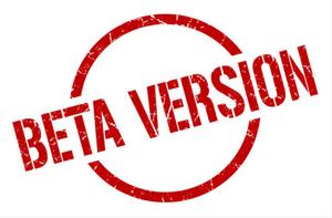 versão beta