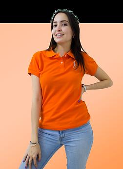 camiseta polo naranja