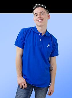 camiseta polo azul