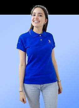 camiseta azul polo