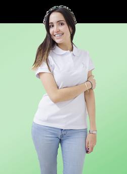 camiseta polo blanca