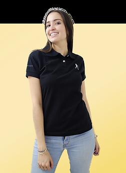 camiseta polo negra