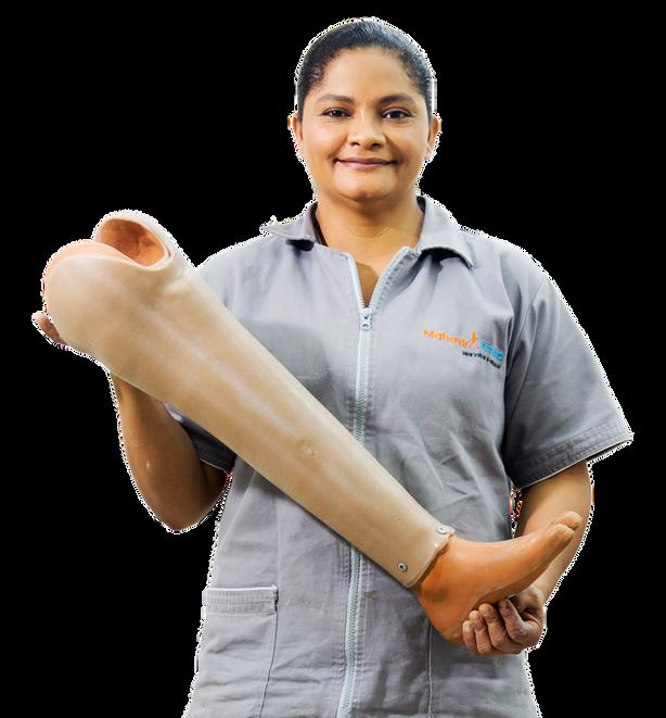 Donación de prótesis de pierna