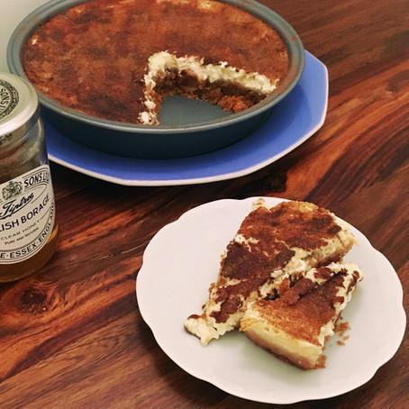 Baked Honey Cheesecake  // 1970s