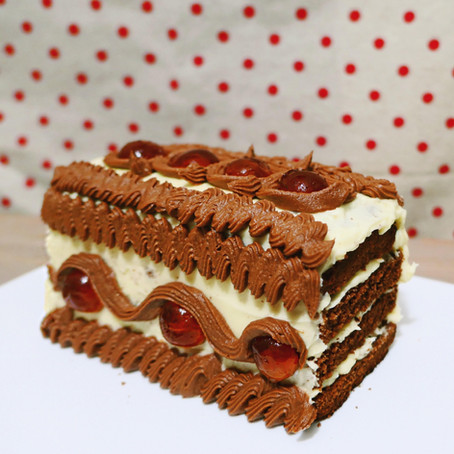 Chocolate Cherry Celebration Cake // 1950s