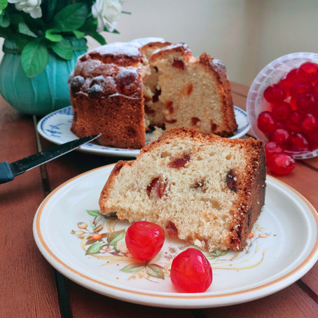 Cherry and Almond Cake  // 1940s