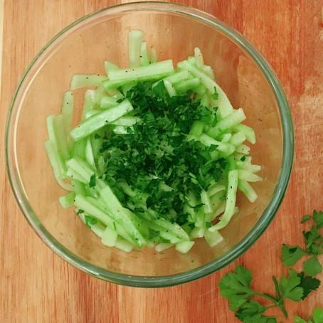 Crisp Cucumber Salad  // 1910s