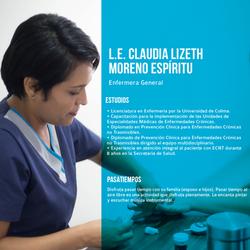 Curriculum L.E. Claudia Moreno