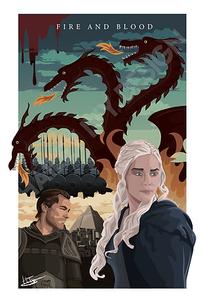 Fire and Blood Print