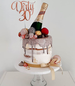 The big 3-0 requires champagne and rose