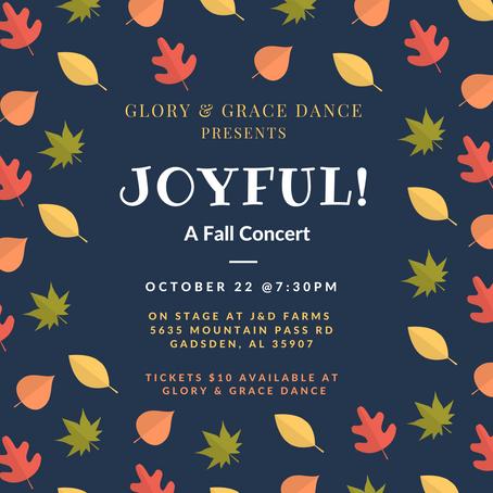 Glory & Grace presents Joyful! A Fall Concert