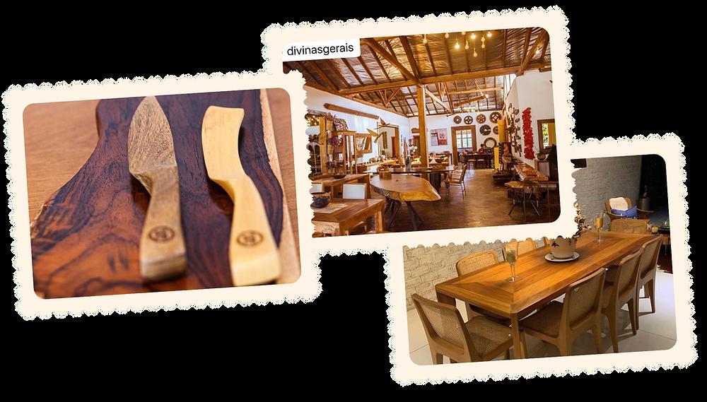 Móveis design em madeira nobre