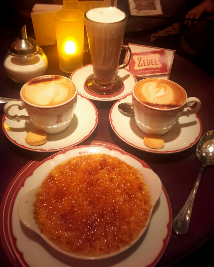 creme brulee & hot chocolate