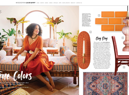 Modern Luxury Interiors California magazine featuring  Justina Blakeney