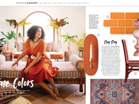 Modern Luxury Interiors California magazine featuring  Justina Blakeney