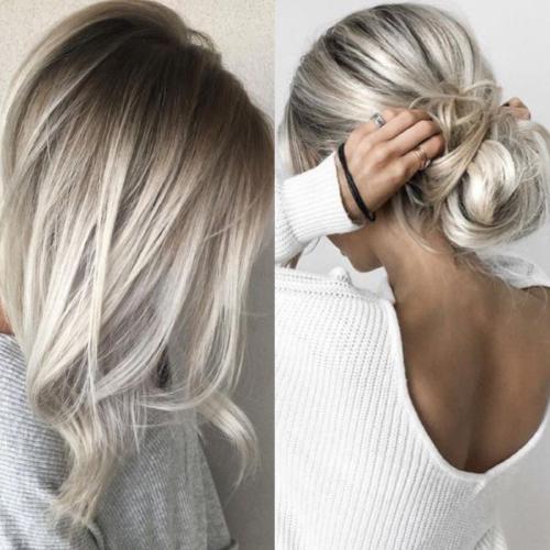 Weißblonde haare färben
