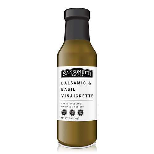 Balsamic & Basil Vinaigrette 12 oz.