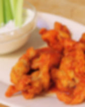 Boneless Chicken Wings with Sansonetti Sauce Roasted Red Pepper Hot Sauce