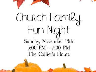 Church Wide Family Fun Night!