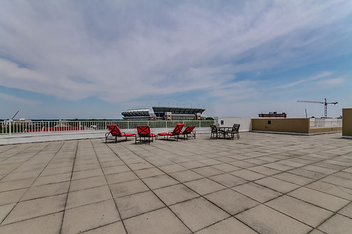 Rooftop terrace at The Legends Condos in