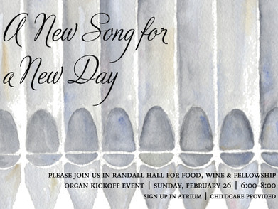 """""""A New Song for a New Day"""" Organ Kickoff Event"""