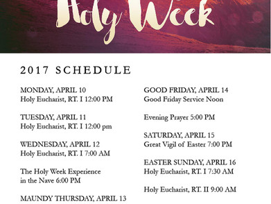 Holy Week at CEC