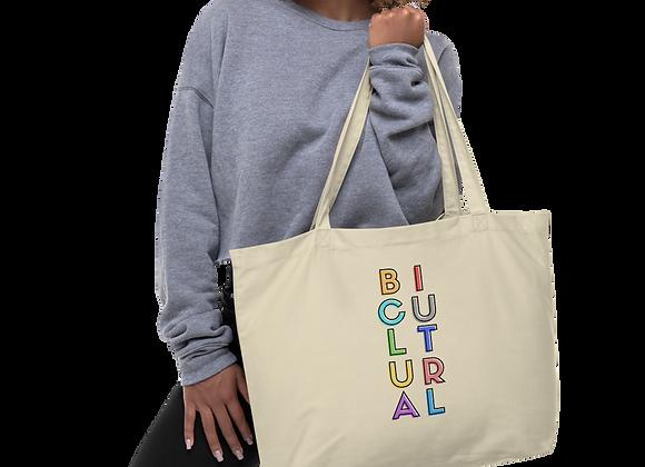 Bicultural Large organic tote bag