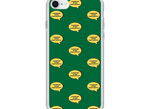 Language is My Superpower iPhone Case (various models) - Green