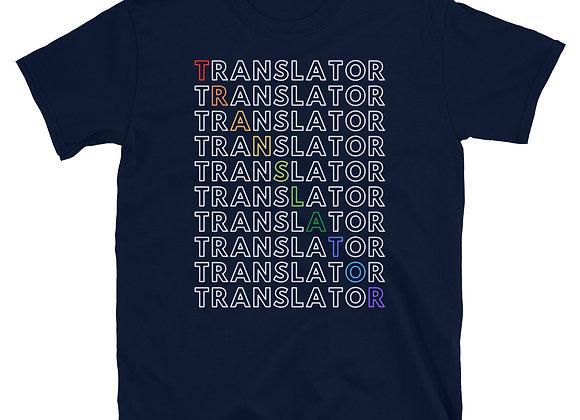 Translator Rainbow Short-Sleeve Unisex T-Shirt - Navy