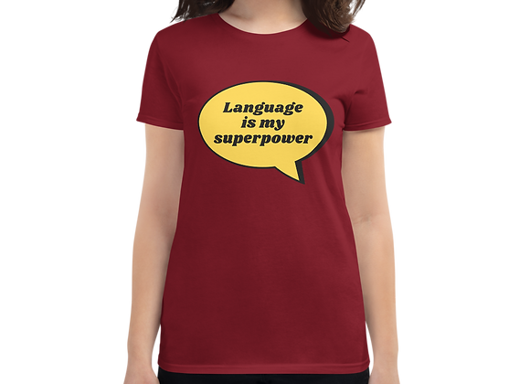 Superpower Women's short sleeve t-shirt - Independence Red