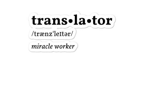 Translator Bubble-free stickers