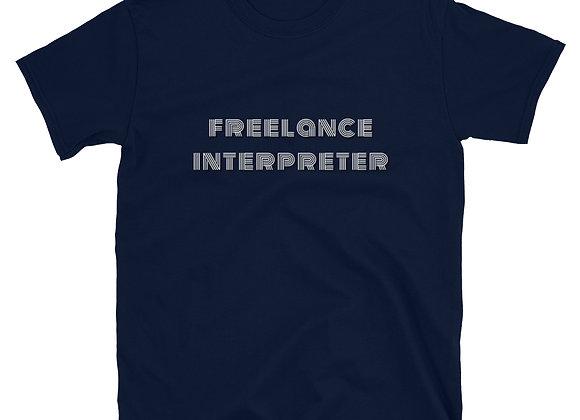 Freelance Interpreter Short-Sleeve Unisex T-Shirt - Navy