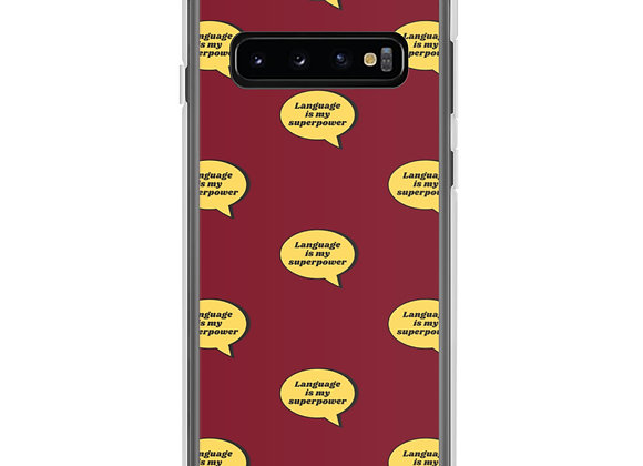 Language is My Superpower Samsung Case (various models) - Red